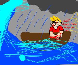 Creepy Draw With Jazza on sail boat