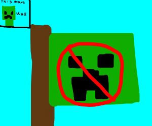 Steve crafts war against creepers