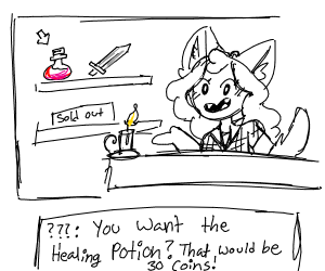 Wolf girl sells you potions