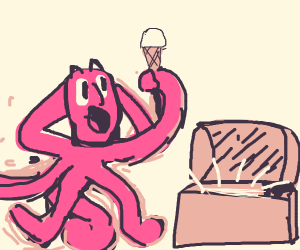 magical alien discovers ice cream