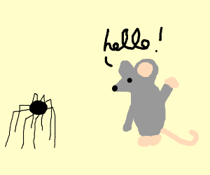 mouse greeting spider