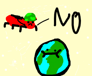 army ant telling the earth no