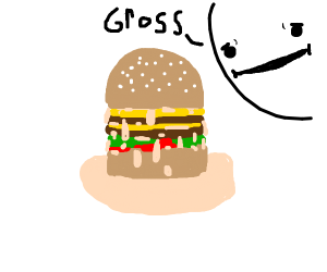 Burger is too oily