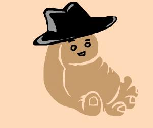 Foot wears a top hat
