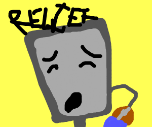 sally the comuptor bot sighs with relief