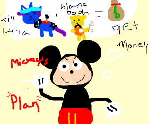 Mickey Mouse has a plan
