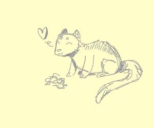Chipmunk loves Worm