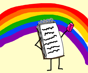 Sketchbook removed green from the rainbow!