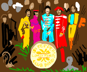 Beatles' Sgt. Pepper album cover. Epic.