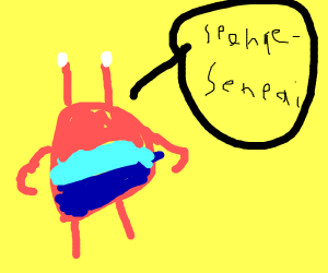 Mr. Krabs calling for Spongebob Senpai