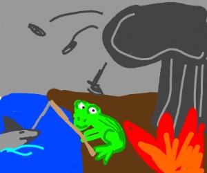 Frogshark fishing in the apocalypse
