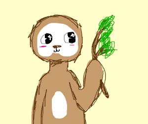 Cute fuzzy sloth