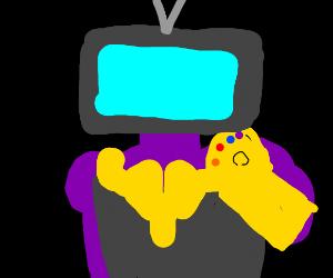 thanos has a TV head