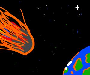 meteors in orbit