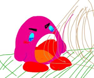 Evil Kirby Eats Somebody