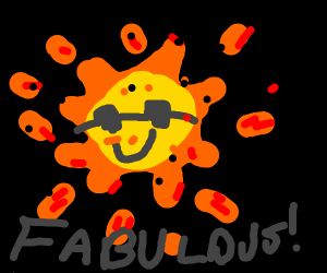 A Happy Face Sun