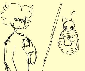 Newton texting Bedbug