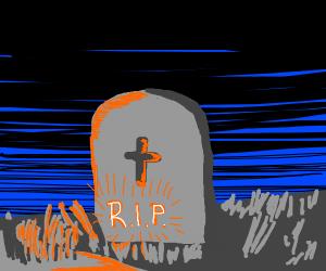 Neon gravestones