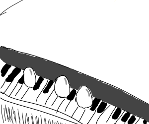 3 eggs on the keys of a piano