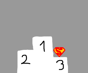 Superman getting last place in a competition.