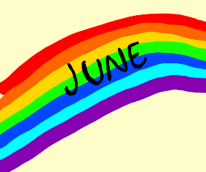 June written in rainbow