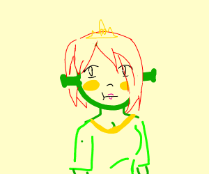 shreks wife with yellow cheeks