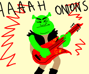 Punk guitar player Shrek