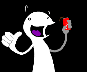 A man with a can of cola