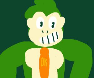 green ape playin drums