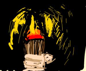 Using a torch to illuminate a black labyrinth