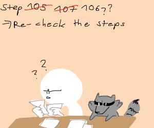 Step 105: go on an adventure with the raccoon