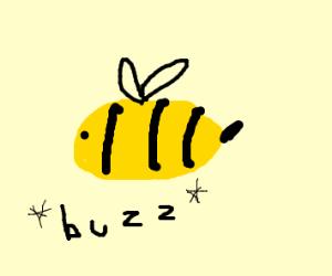 A bee says buzz buzz