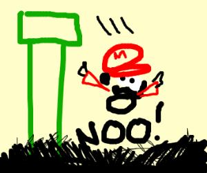 Mario falling off a platform! Noooo!!!!!