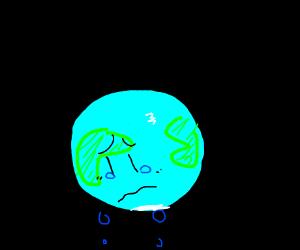 planet earth is sad