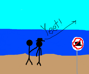 No Hats on the Beach!