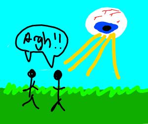 eyeball alien attack