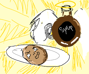 Local pancake pleads for mercy of syrup gods