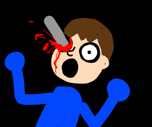 a mii hurt his eye
