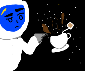 Teacup in space
