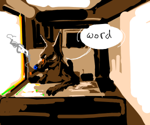Talking dog and a cigarette