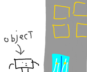 Object goes to building