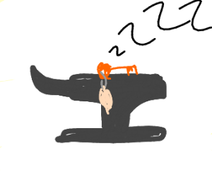 Key sleeping on an anvil