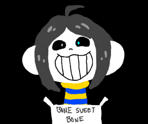 sans and temmie have...fused...