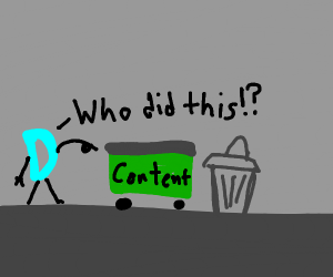 drawception angry at all the trash content