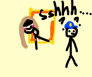 Mona Lisa Sneaking