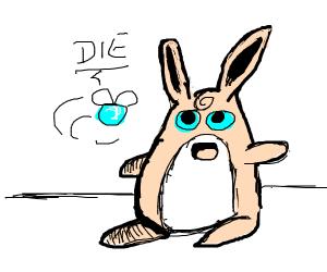 Wigglytuff (pokemon) is atakd by blu parasite