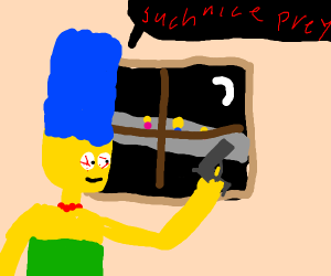 Marge about to commit killings