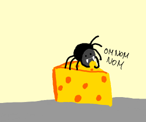 Spider cronch the cheese