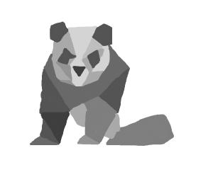 panda made out of geometric shapes