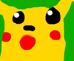 Pikachu but he's been memed up